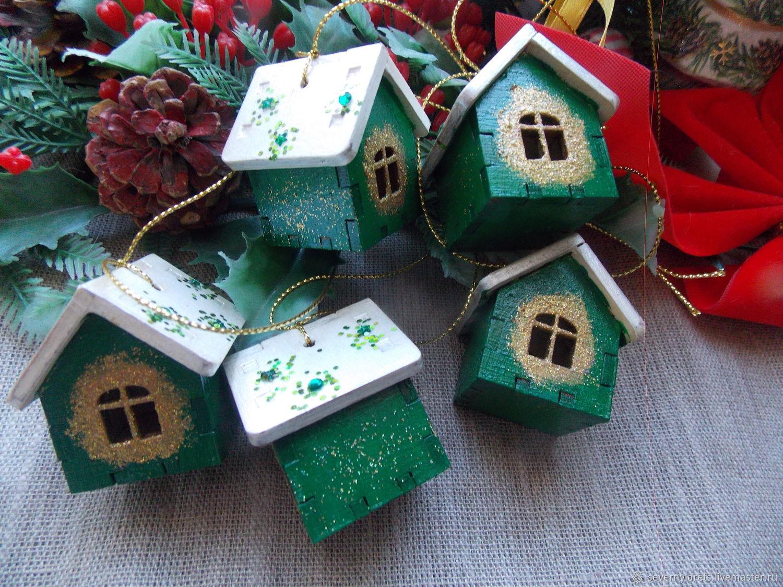 новогодние игрушки домики своими руками фото фасада должен быть