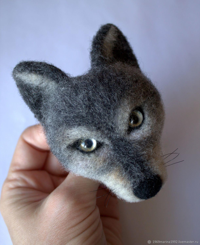 фото смешного волка из шерсти множество различных