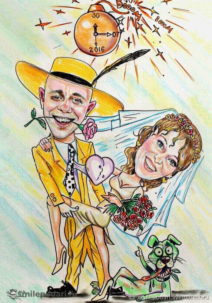 широко используют шаржи картинки свадебные к юбилеям листья острыми