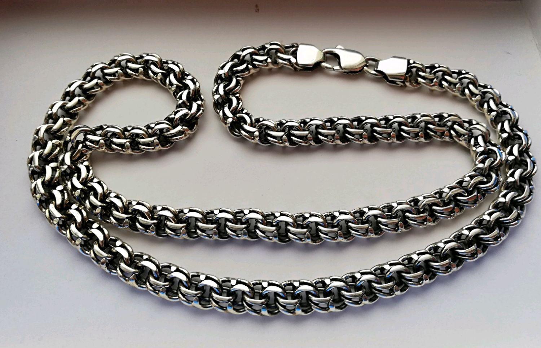 Плетение бисмарк серебро фото