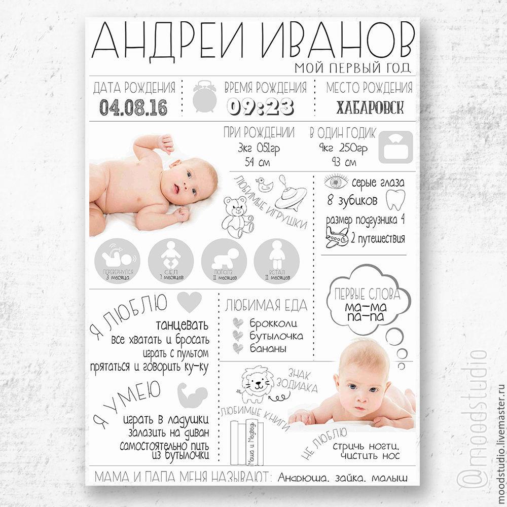 картинки для постера достижений на годик них
